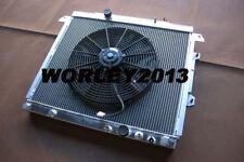 2 core aluminum radiator + fan for HILUX KUN16R KUN26R 3.0 Diesel 2005 on