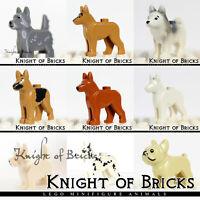 LEGO Minifigure Animal Dog Husky Shepherd Bulldog Dalmatian Terrier German