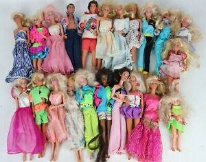 Lot of 22 Vintage Loose Barbie & Friends Ken Dolls w/ Outfits - Most Dated 1966