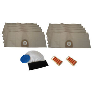 10 x Vacuum Hoover Dust Bags & Filters & Fresheners for VAX 6131T 6151F 6151T