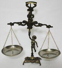 Vintage Italian Brass Figural Cherub Balance Scales - FREE Postage [PL1745]