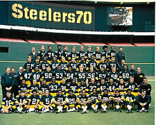 PITTSBURGH STEELERS 1970 SUPER RARE COLOR 8X10 TEAM  PHOTO