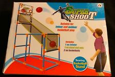 Floor Super Shoot Scoring Basketball Stand with net Indoor Outdoor 54 x 34 x 18