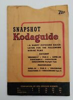 Vintage Kodak Snapshot Kodaguide Photo Exposure Dial Guide