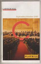 Michael Feinstein  &  Cheyenne Jackson  Carnegie Hall  Playbill  2010