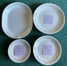 Vtg Corelle Dinnerware Set Lot 24 Pieces Country Cottage Plates Serving Platter