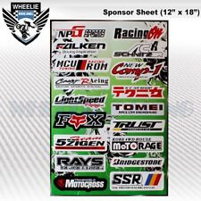 MOTOCROSS MOTORCYCLE DIRT BIKE ATV HELMET SPONSOR LOGO RACE STICKER DECAL #8GE7L