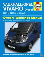 Haynes Handbuch: Opel Vivaro 2001-2011 Diesel Reparaturanleitung/Reparatur-Buch