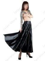 496 Latex Rubber Gummi Pleated Full Skirt dress catsuit customized 0.4mm fashion