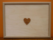 Personalised Framed Wedding Guest Board : Signature engraved Guestbook Book