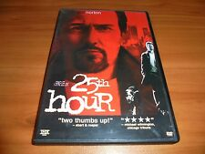 25th Hour (DVD, Widescreen 2003) Edward Norton Used