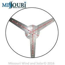 "Wind turbine generator DEFECTIVE 3 blade hub 17MM center hole 1/4"" thick    USA"