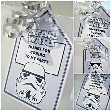 5 Stormtrooper STAR WARS personalised Party Bag tags GIFT TAGS PARTY BAG LABELS