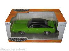 JADA 1970 DODGE CHARGER R/T GREEN 1/24 DIECAST MODEL CAR 97595