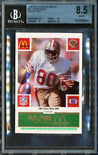 1986 McDonalds 49ers JERRY RICE Rookie BGS 8.5 Green Tab