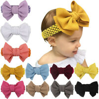 Handmade Baby Girl Large Bow Headband Infant Toddler Knot Hair Band Head Wrap UK