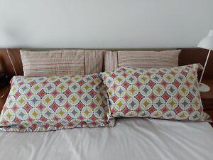 4 x Bedeck 1951 'Otto'  Pillowcases 1 Used & 3 Unused