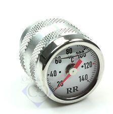 Oeltemperatur-Anzeige - RR - Aluminium - Ziffernblatt weiss