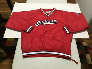 1990's ERA Cleveland Indians Pullover Wind Jacket (Kid's XL - 18/20)  VERY NICE