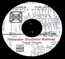 Tidewater Southern Railway 1968 Track Chart Diagram PDF Pages on DVD