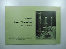 Villa san Secondo in festa. Numero unico ingresso parrocchiale 1963