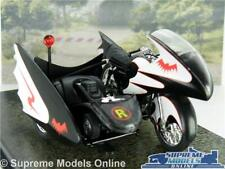 BATMAN BATCYCLE MODEL BIKE CLASSIC TV SERIES 1:22 SCALE AUTOMOBILIA BATMOBILE K8
