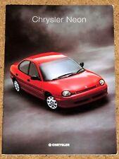 1996-97 CHRYSLER NEON Sales Brochure UK Market - 2.0LE, 2.0LX