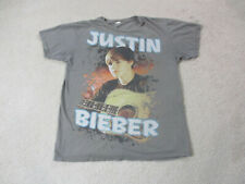 Justin Bieber Concert Shirt Adult Medium Gray Orange R&B Singer Music Mens *