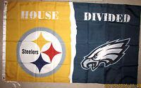 PITTSBURGH STEELERS vs PHILADELPHIA EAGLES 3X5 FEET FLAG NFL HOUSE DIVIDED PA