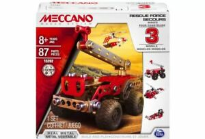 Meccano 3 Model Fire Truck, Rescue Helicoper, Rescue Air boat in one UK Seller