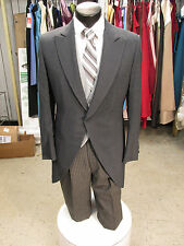 MENS VINTAGE WOOL GREY CUTAWAY TUXEDO/MORNING SUIT 4PC 39R