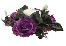 Candle Rings  MANY COLORS  Wedding Party Centerpieces Silk Flowers Roses Vintage