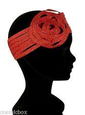 Chapeau cérémonie soirée femme La TRIBU des OISEAUX bandeau habillé rouge neuf