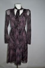 +Mexx Da. Kleid 2-teil. Wickelkleid Empire-Bluse lila-schwarz Gr.XS / S NEU
