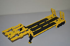 "NEW LEGO TECHNIC YELLOW & BLACK MOC/CUSTOM FLATBED TRAILER 25""-Long"