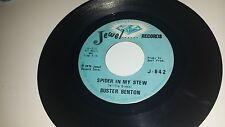 BUSTER BENTON Spider In My Stew / Dangerous Woman JEWEL 842 SOUL 45