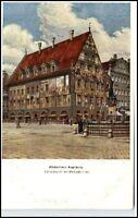 AUGSBURG ~1910/20 Kunst Weber-Haus Merkur-Brunnen, Bayern, alte Postkarte