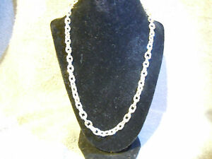"""(WHY WEAR STERLING)22"""" 999 PURE SILVER MENS NECKLACE BLING SERIES APM JEWELRY #D"""