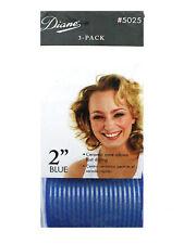 "Diane D5025 Blue IONIC CERAMIC THERMAL 2"" HAIR ROLLERS CURLERS SELF GRIP"