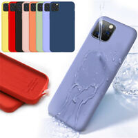 Silicone Case Liquid Gel Matte Slim Cellphone Back Cover For iPhone 11 Pro Max