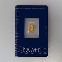 999 or Lingots D'or Fortuna Pamp Suisse sous Blister Emballé avec Certificat