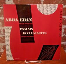 "Abba Eban reads Ecclesiastes in English and Hebrew, Spoken Arts LP 33"" 757 NM"