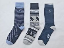 Original Penguin Men Ape Bigfoot/ Stripe/ Tree Black Blue Sock Gift Box - 3 Pack