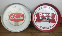 Vintage Beer Trays 1960s Set Of 2 Schaefer And Rheingold Collectible