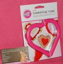 "Heart,Valentines,Comfort Grip Cookie Cutter,Wilton,3.5"",Metal,Pink,Stainless"