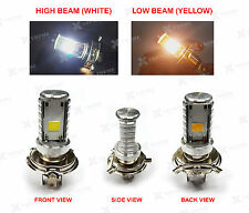 H4 COB LED HID Light  White & Yellow For TVS Scooty Pep
