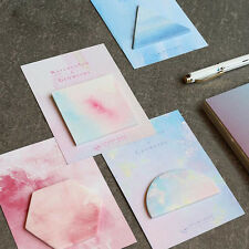 Watercolor Geometric Self-Adhesive Memo Pad Sticky Notes Page Marker Student CN