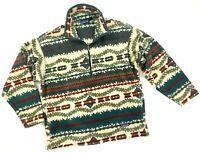 Vintage Men's PATAGONIA Synchilla Zig Zag 1/4 Zip Fleece Jacket Casual - M/L -