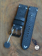 24mm Cinturino in razza Stingray Leather Pam Watch Strap 24 Handmade In Italy