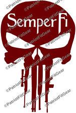 Semper Fipunisher Gunsusmcmilitarymarine Corpsstickersvinyl Decal